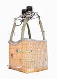 Esvazie a cesta do balão de ar quente isolada no fundo branco Imagens de Stock Royalty Free