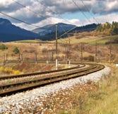 Esvazie a estrada de ferro Fotos de Stock Royalty Free