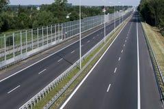 Esvazie a estrada expressa Fotografia de Stock
