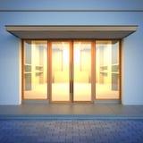 Esvazie a fachada da loja Fotos de Stock Royalty Free