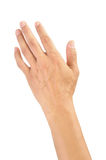 Esvazie a mão aberta do homem Imagens de Stock Royalty Free