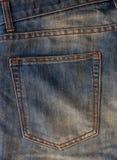 Esvazie o bolso traseiro das calças de brim Imagens de Stock Royalty Free