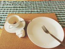Esvazie o café da manhã Imagem de Stock Royalty Free
