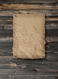 Esvazie o cartaz querido na parede da madeira da prancha foto de stock royalty free