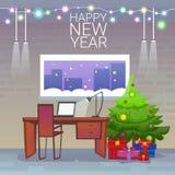 Esvazie o escritório decorado do local de trabalho Imagem de Stock Royalty Free