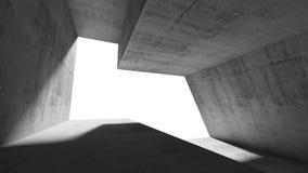 Esvazie o interior concreto abstrato de 3 d Foto de Stock