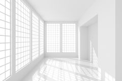 Esvazie o quarto branco Fotos de Stock Royalty Free