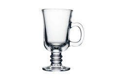 Esvazie o vidro do chá isolado em um branco Foto de Stock Royalty Free