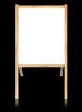 Esvazie o whiteboard com frame de madeira Fotos de Stock Royalty Free