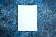 Esvazie a página do caderno Imagens de Stock