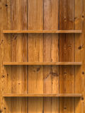 Esvazie a prateleira da madeira três Imagens de Stock Royalty Free