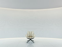 Esvazie a rendição 3d interior do espaço moderno da sala branca Ilustração do Vetor