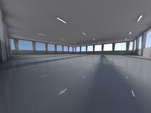 Esvazie a rendição subterrânea da área de estacionamento 3D Imagem de Stock Royalty Free