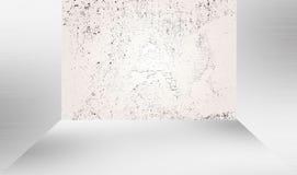 Esvazie a sala branca, ou apronte-a para a decoração Fotografia de Stock