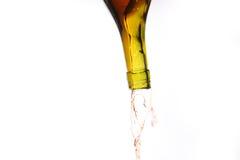 Esvazie um frasco com líquido Imagem de Stock