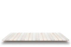 Esvazie a vista superior da tabela ou contador & x28 de madeira; shelf& x29; no wh Foto de Stock