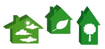 Esverdeie a casa ecológica. Fotos de Stock