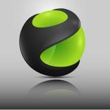 Esverdeie esferas ilustração do vetor