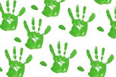 esverdeie Handprint Imagem de Stock