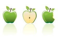 Esverdeie maçãs ilustração do vetor