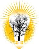 Esverdeie o conceito da energia ilustração royalty free