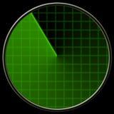Esverdeie o ecrã de radar Imagens de Stock Royalty Free