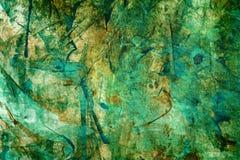 Esverdeie o fundo abstrato da aguarela Fotos de Stock
