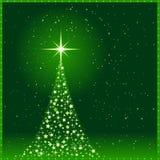 Esverdeie o fundo do Natal com Natal tr Foto de Stock
