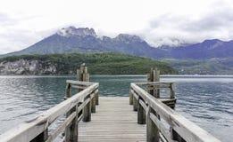 Esverdeie o lago Fotografia de Stock Royalty Free