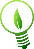 Esverdeie o símbolo da lâmpada Foto de Stock Royalty Free