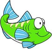 Esverdeie o vetor dos peixes Imagem de Stock Royalty Free