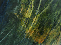 Esverdeie a textura da pintura de petróleo Fotos de Stock