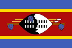 Eswatini national flag. Official flag of Swaziland accurate colors. True color Stock Image