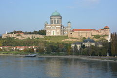 Esztergom Basilica (Hungary). The Cathedral and Primatial Basilica of the Blessed Virgin Mary Assumed Into Heaven and St Adalbert Royalty Free Stock Photo