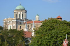 Esztergom Basilica (Hungary). The Cathedral and Primatial Basilica of the Blessed Virgin Mary Assumed Into Heaven and St Adalbert Royalty Free Stock Image