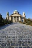 Esztergom Basilica, Hungary - cobblestone walkway Stock Image