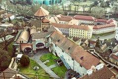 Esztergom castle, Hungary, old filter stock photos