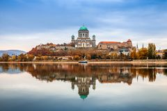 Free Esztergom, Hungary - Beautiful Autumn Morning With The Basilica Of The Blessed Virgin Mary At Esztergom By The River Danube Stock Image - 162540641