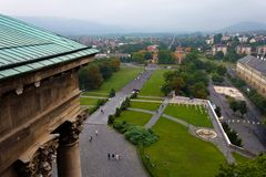 Esztergom from the Roof Royalty Free Stock Images