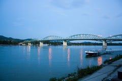 Esztergom - Sturovo bridge. The bridge over Danube between Esztergom and Sturovo Royalty Free Stock Photo