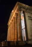 Esztergom, Ungarn-Basilika im Flutlicht Lizenzfreies Stockbild