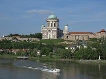 Esztergom Ungern - basilika Royaltyfria Bilder