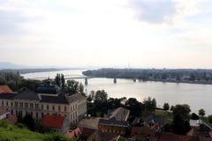Esztergom Visegrad, panorama do monte da basílica Imagens de Stock