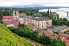 esztergomhungary town Royaltyfri Foto