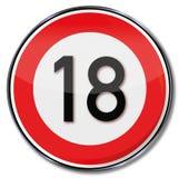 Età legale e compleanno 18 Fotografia Stock