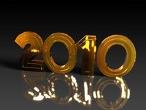 Or et 2010 brillant Photo stock