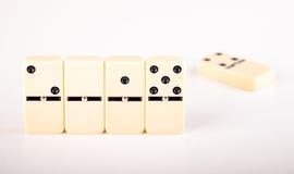 2015 et 2014 avec le domino Photographie stock