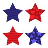 Et bleu étoiles remplies par modèle rouge illustration de vecteur