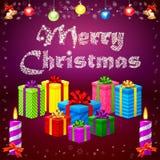 2015 et cadeaux de Joyeux Noël illustration de vecteur