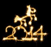 2014 et cheval ont fait un cierge magique Images libres de droits